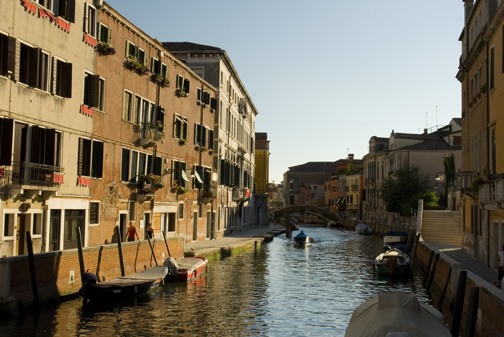 A quiet canal in Venice