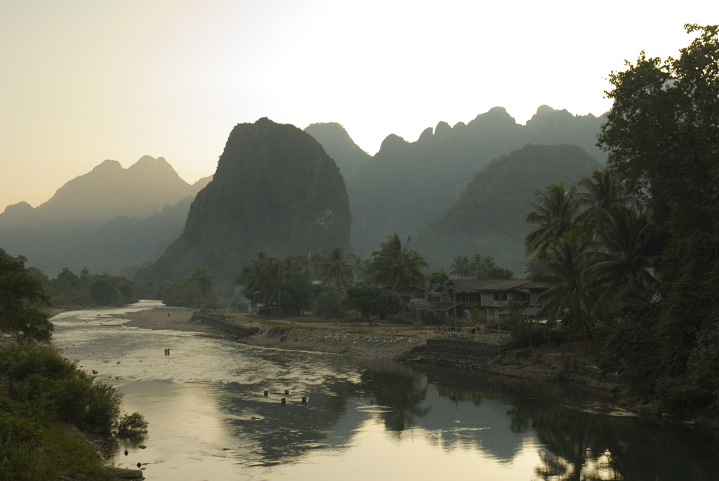 Limestone hills by Vang Vieng